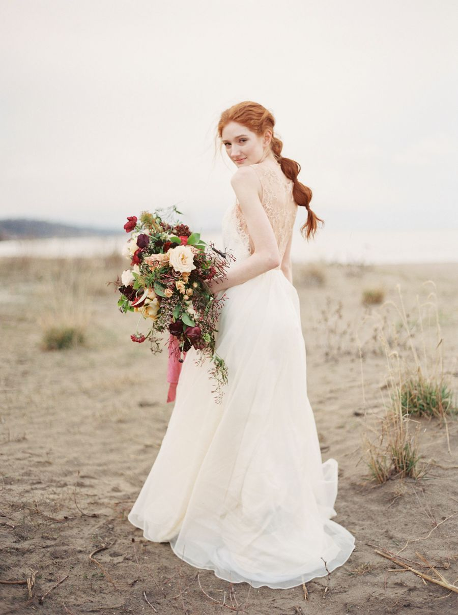 Organic outdoor bridal session ideas wedding sparrow when he