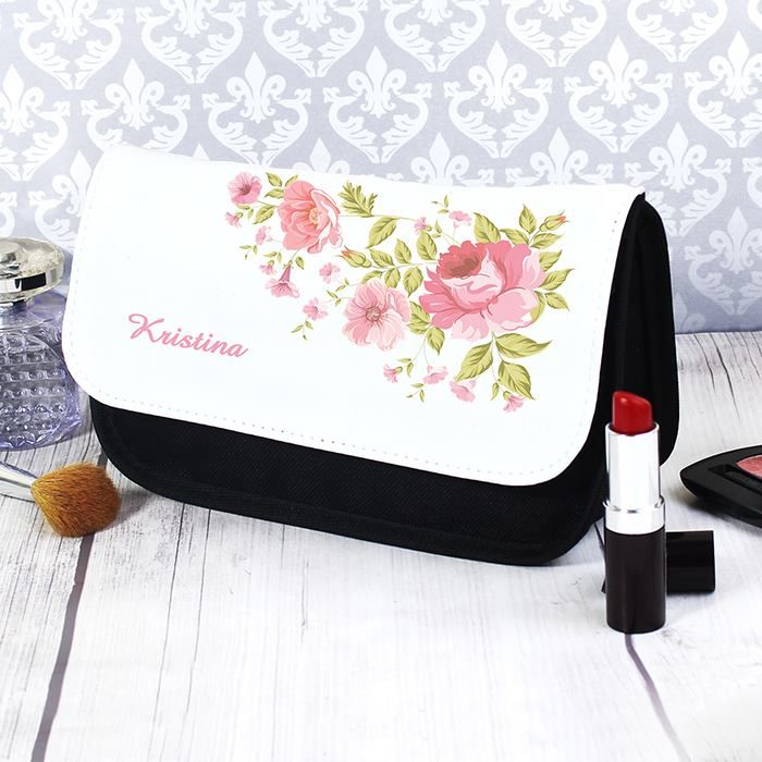 Pretty Rose Make up Bag - Price: £14.99  Our Pretty Rose makeup bag is a wonderfully unique gift for her.  https://www.facebook.com/perfectlittlegift/photos/a.966854960009670.1073741898.887213147973852/1004969956198170/?type=3&theater