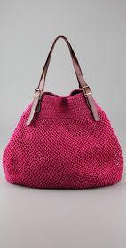 Elliot Mann. Crochet bags.