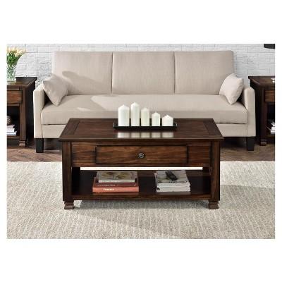Avondale Wood Veneer Coffee Table Espresso - Room & Joy ...