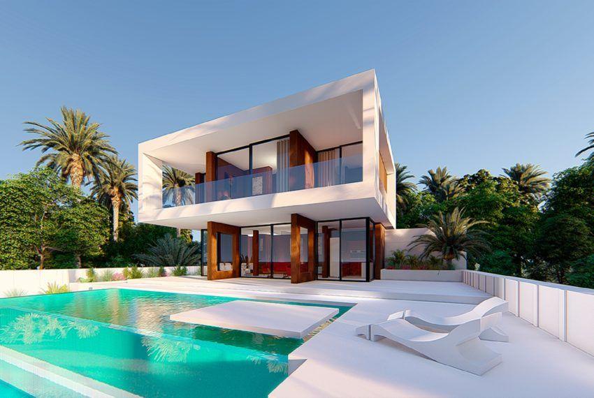 3 Bedroom 3 Bathroom Villa Build Size 163 M Plot Size 497 M Modern Villa Design Luxury Townhouse Villa Design