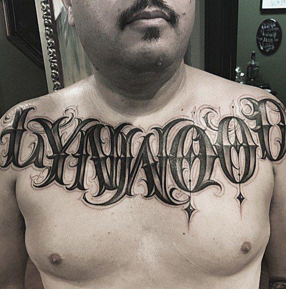 Criminal Lettering Tattoo Chest Tattoo Lettering Tattoo Lettering Last Name Tattoos