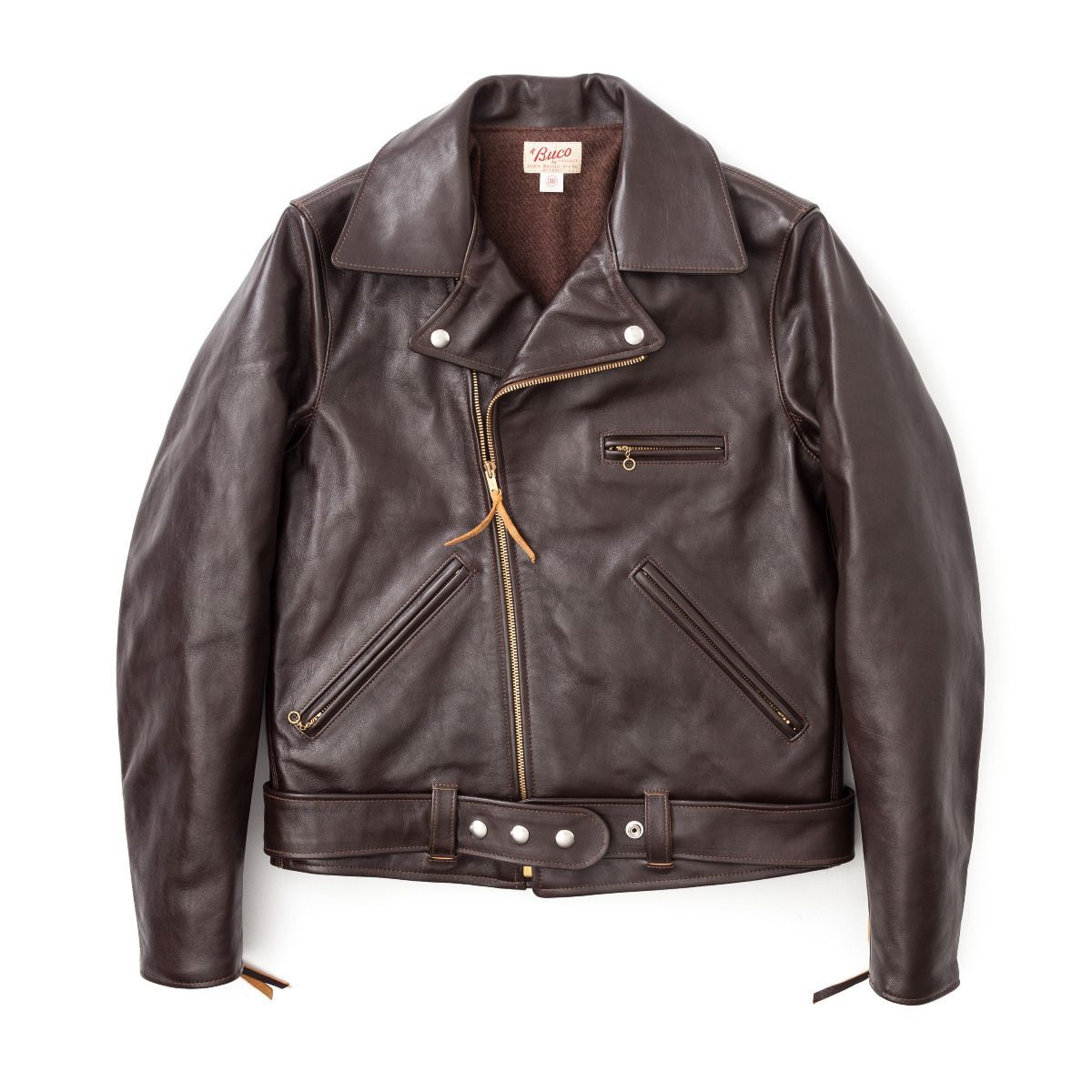 Buco Jh 1 Horsehide Leather Jacket Brown Leather Jacket Jackets Leather [ 1200 x 1200 Pixel ]