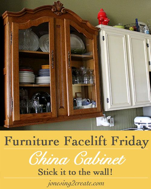 Furniture Facelift Friday China Cabinet Turned Kitchen Cabinet