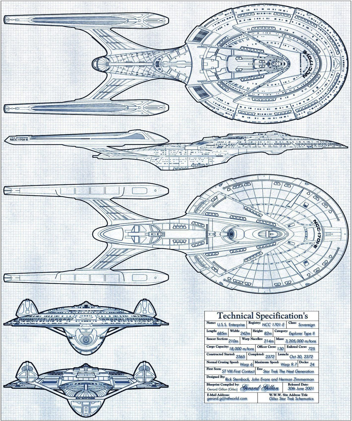 star trek Next Generation uss enterprise