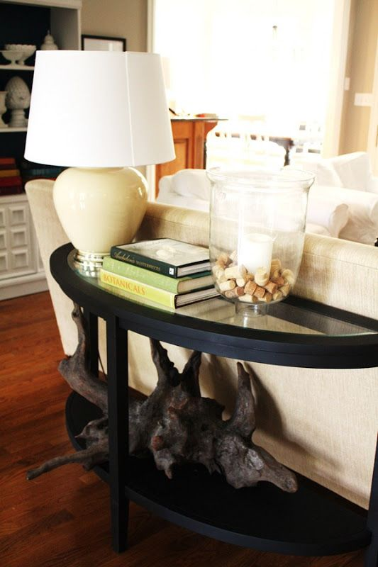 Half Circle Table For Behind Sofa With Images Sofa Table Home