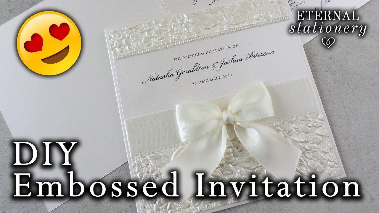 How to make a romantic embossed wedding invitation diy wedding