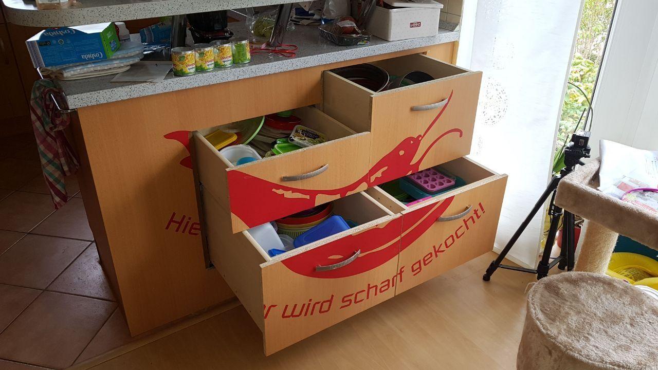 Küchenschrank umbauen mit Schubfächern Bauanleitung zum selber ...