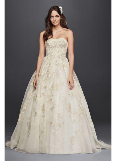 Petite Organza Wedding Dress with Beading 7CWG700   wedding: dress ...