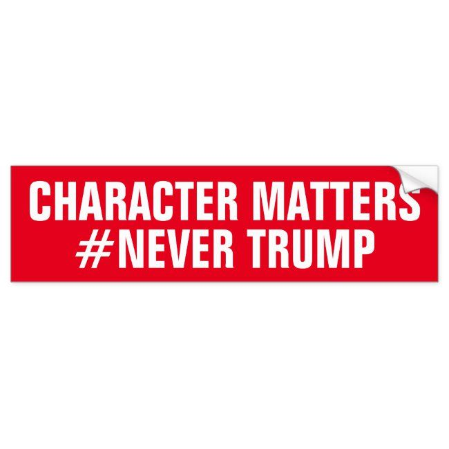 CHARACTER MATTERS NEVER TRUMP BUMPER STICKER #character #matters #never #trump #never #BUMPERSTICKER #carmagnets #bumpercarmagnets #zazzle #petrescue #inmemoryof #fightcancer #sports #businessadvertising #advertising #quotes #love #magnets #speakyourmind