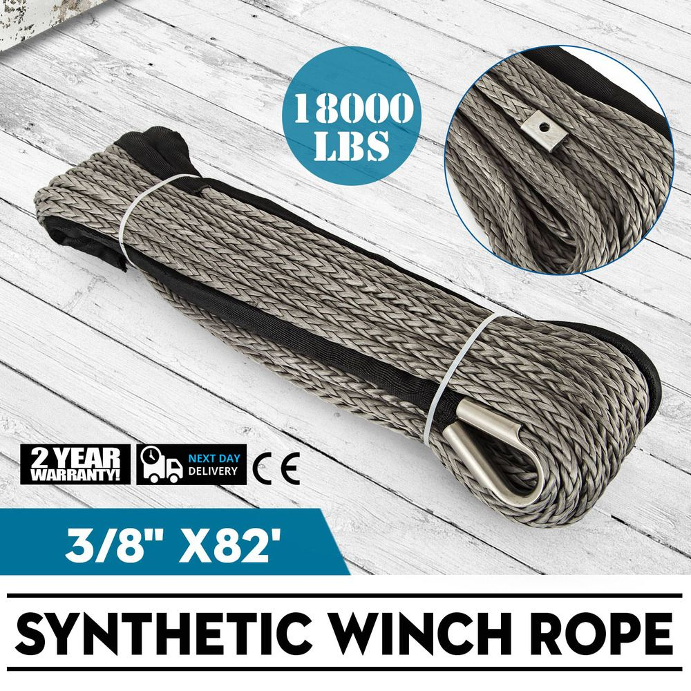 Ebay Sponsored 82ft3 8 Synthetic Winch Rope Winch Cable Fiber Heavy Loading High Strength Winch Cable Winch Rope Synthetic Winch Rope