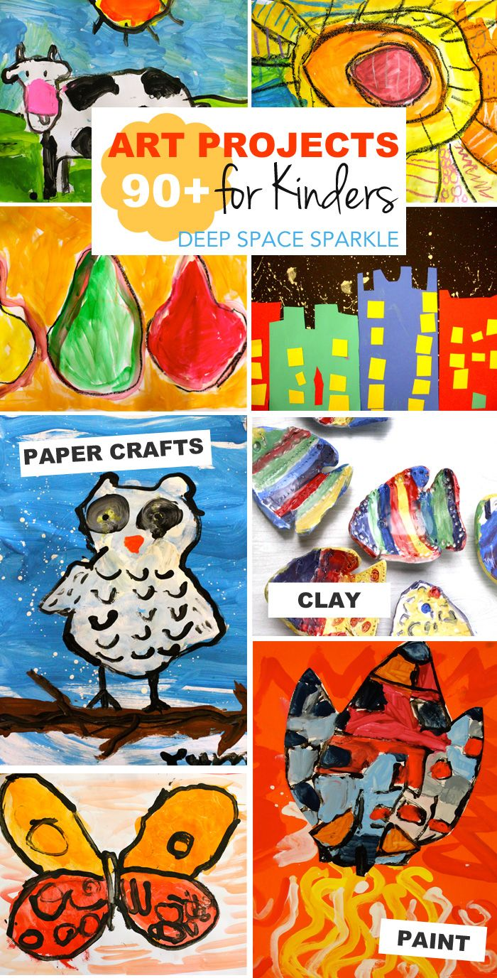 4 year old arts and crafts - 90 Art Activities For 5 Year Olds Kinders
