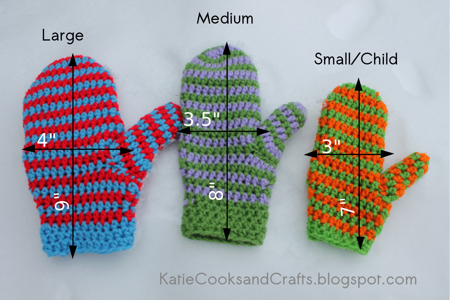 Katie Cooks and Crafts: Spiral Mittens Pattern and Tutorial ...