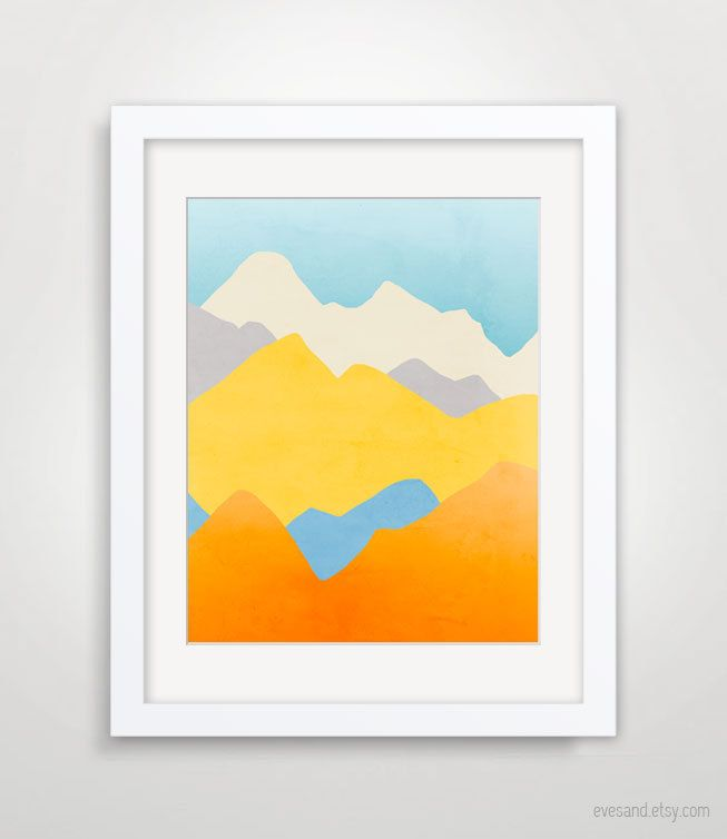 Colorful Wall Art Mountain Print Mountain Nursery Abstract Etsy Large Art Prints Colorful Wall Art Colorful Abstract Art