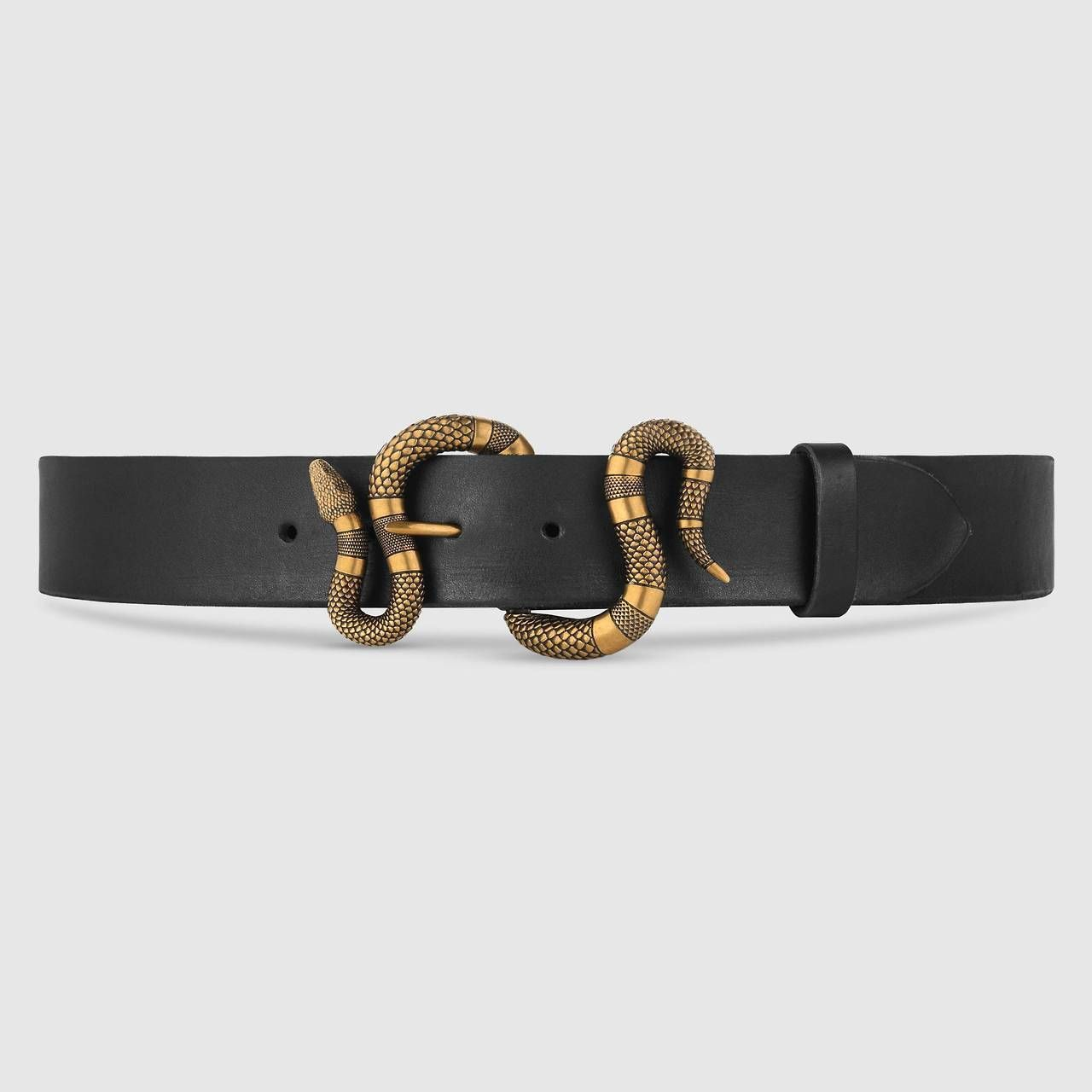 """3044d2458ae tngeriine  """"Gucci Leather Belt With Snake Buckle """""""