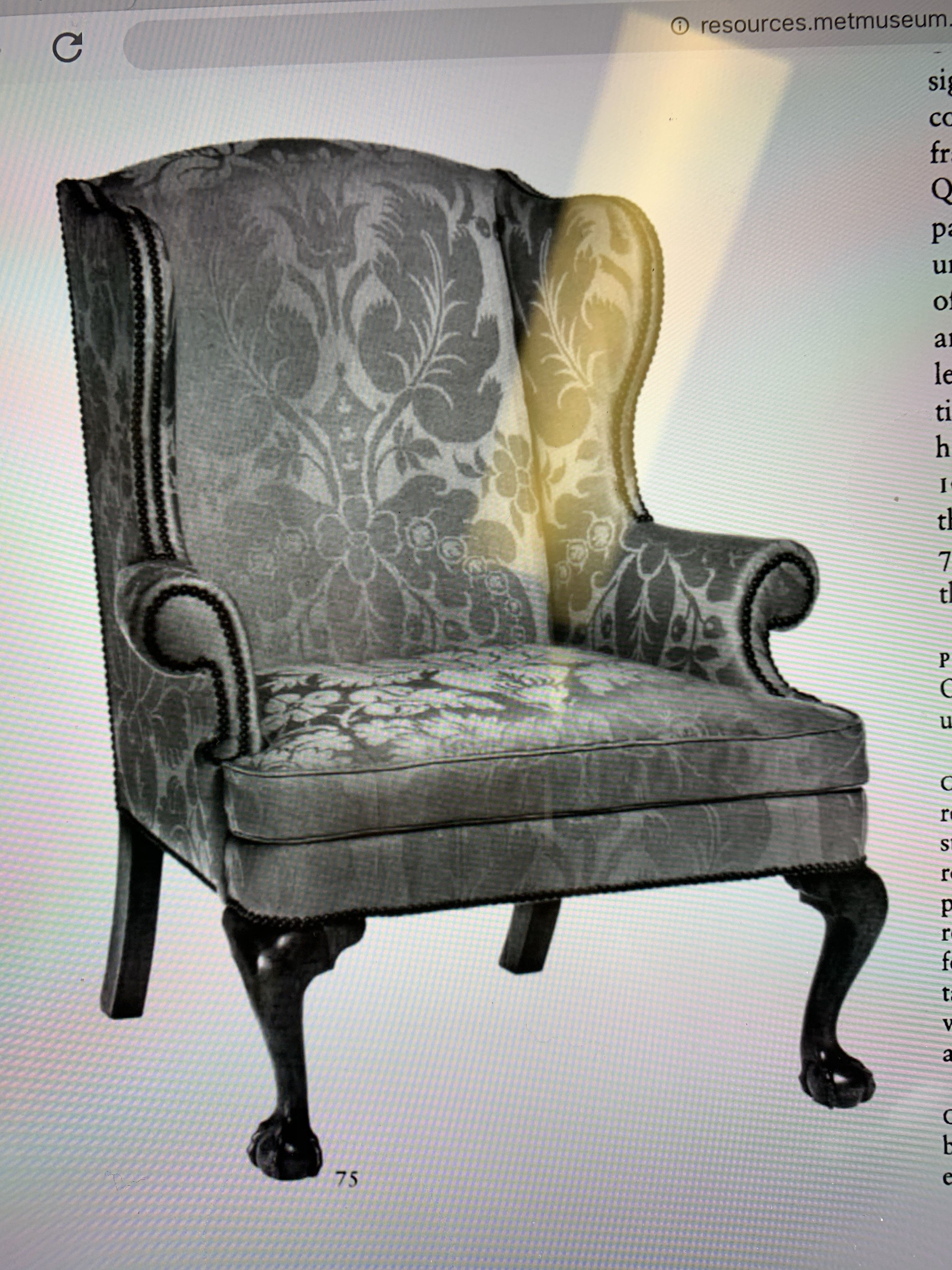 hand chair with fingers soft