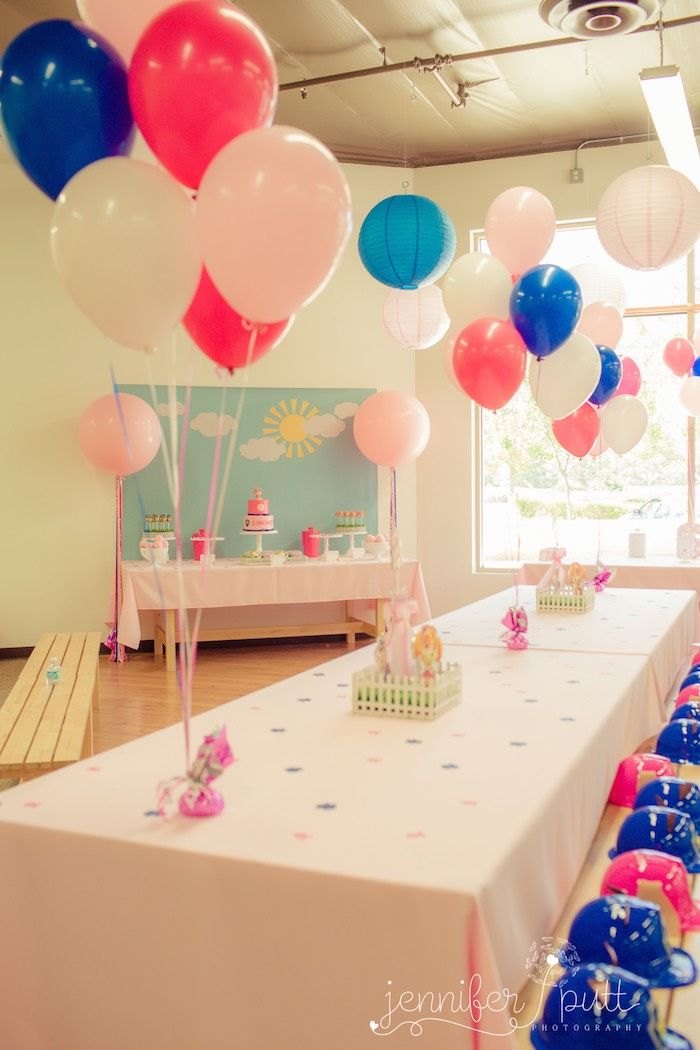 Pink Blue Paw Patrol Birthday Party via Karas Party Ideas The