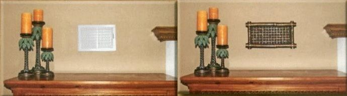 See the difference between a plain register and a decorative wall ...
