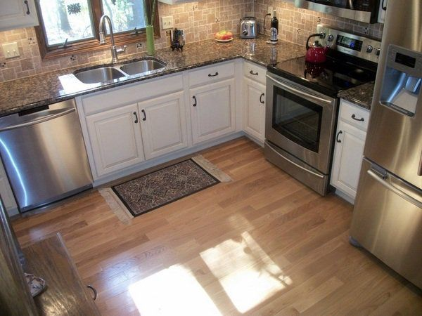 Baltic Brown Granite Countertop White Cabinets Stainless Steel