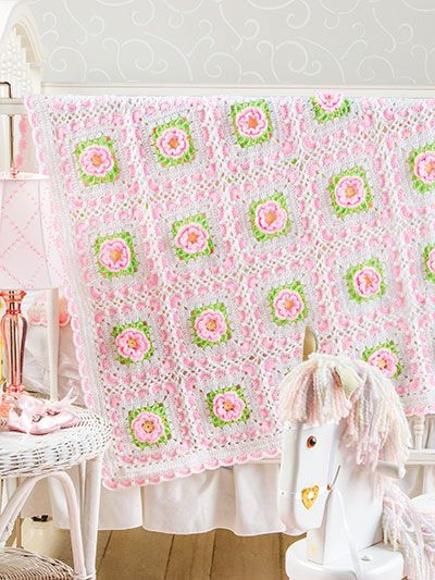 Crochet - Sweetheart Rose Baby Afghan - Item : #EC01189 from E ...