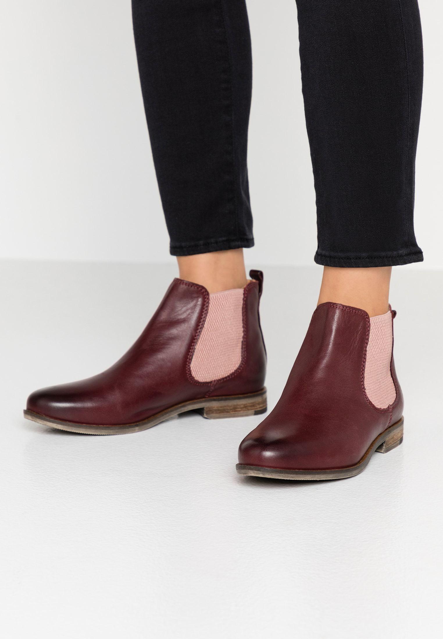 Manon Ankle Boot Bordo Zalando De Ankle Boots Stiefel Boote