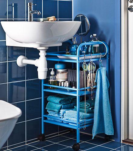 baño azul carro | Decoracion de baños pequeños, Decoracion ...