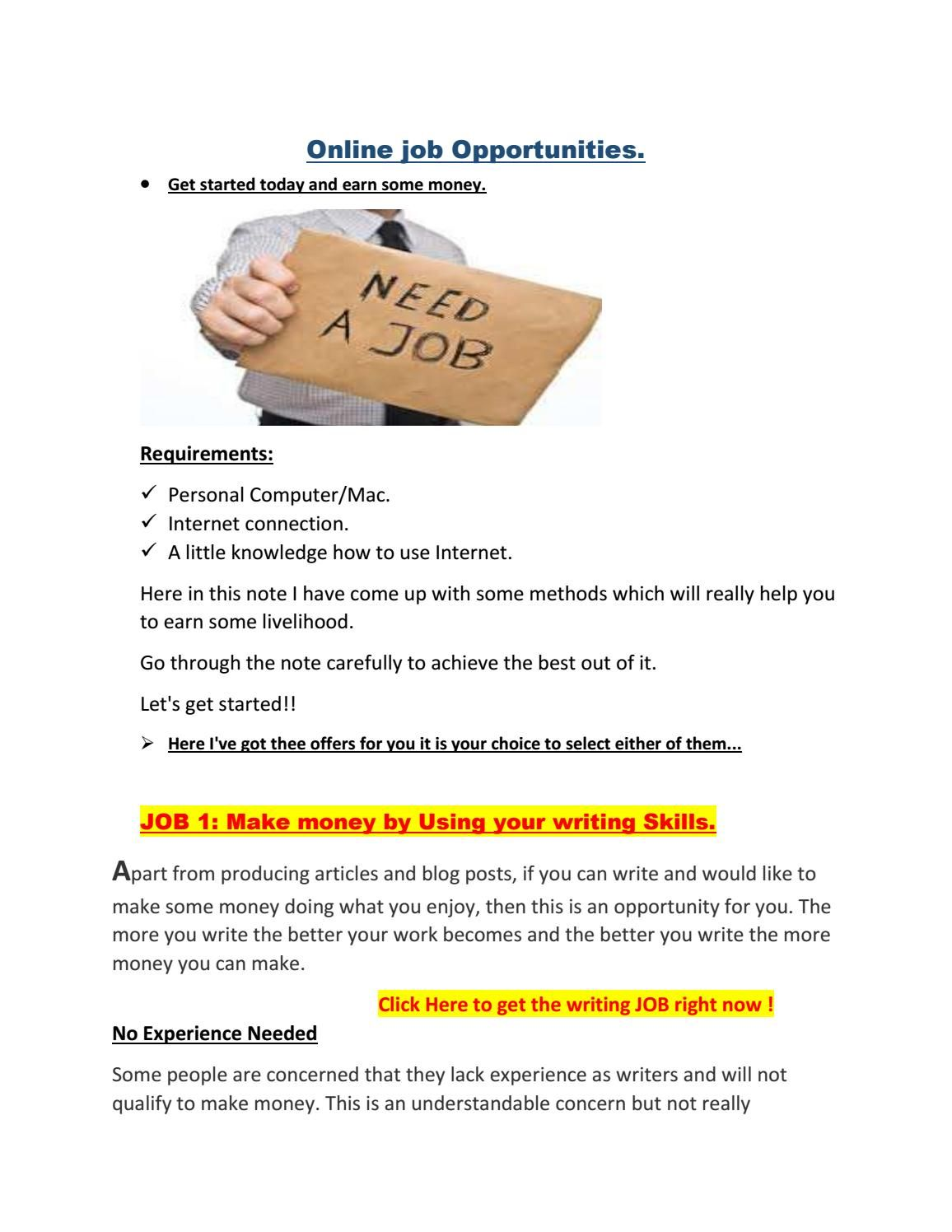 Part Time Writing Work   Writing Tips   Online writing jobs