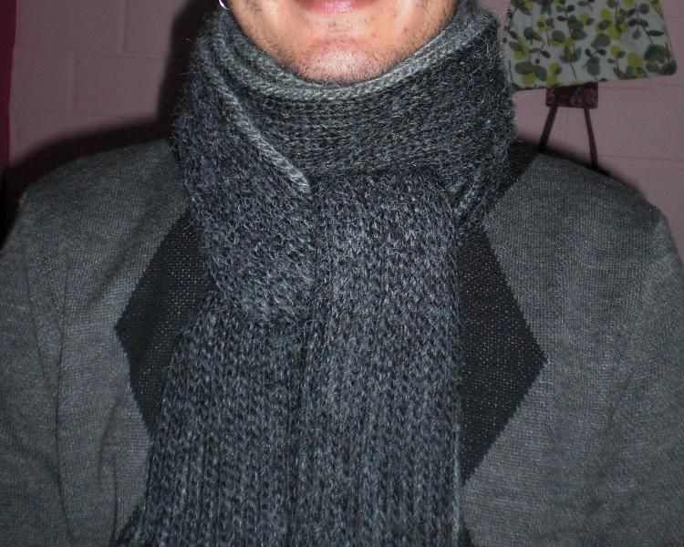 Free Crochet Men Scarf Two Colors Pattern Free Crochet Mens