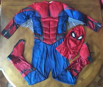 Spiderman Homecoming Boys Deluxe Muscle Chest Spiderman Marvel Costume