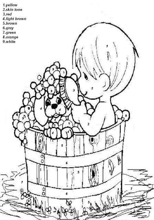 Cute Color By Number Precious Moments Coloring Pages Cute