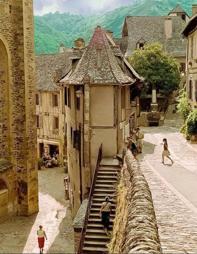 Conques, midi-Pyrenees, France