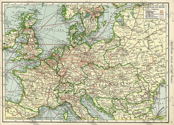 Vintage map of europe 1906 instant download image unoprint vintage map of europe 1906 instant download image printable picture for scrapbooking decor prints etc hq 300dpi gumiabroncs Image collections