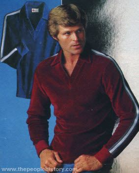 74c6f4686a697 Velour V-Neck 1979 (and the hair...oh