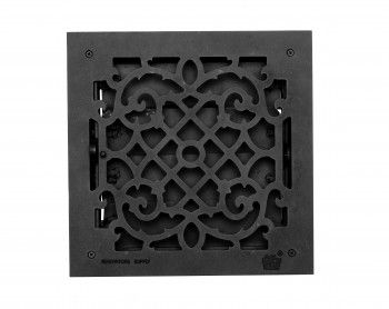 Heat Registers Black Cast Aluminum Heat Registers W Logo 14x14 Heat Registers Louver Vent It Cast