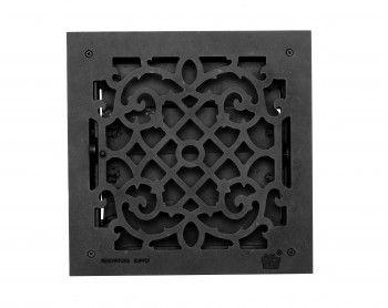 Heat Registers Black Cast Aluminum Heat Registers W Logo 14x14 Heat Registers Louver Vent It Cast