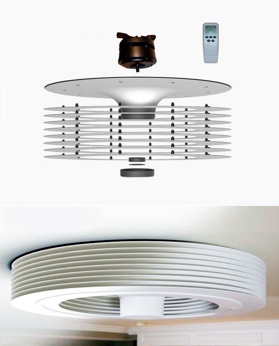 Vendo ventilatore da soffitto con telecomando e. Exhale Fans Il Primo Ventilatore A Soffitto Senza Pale Ventilatori A Soffitto E Lampadari