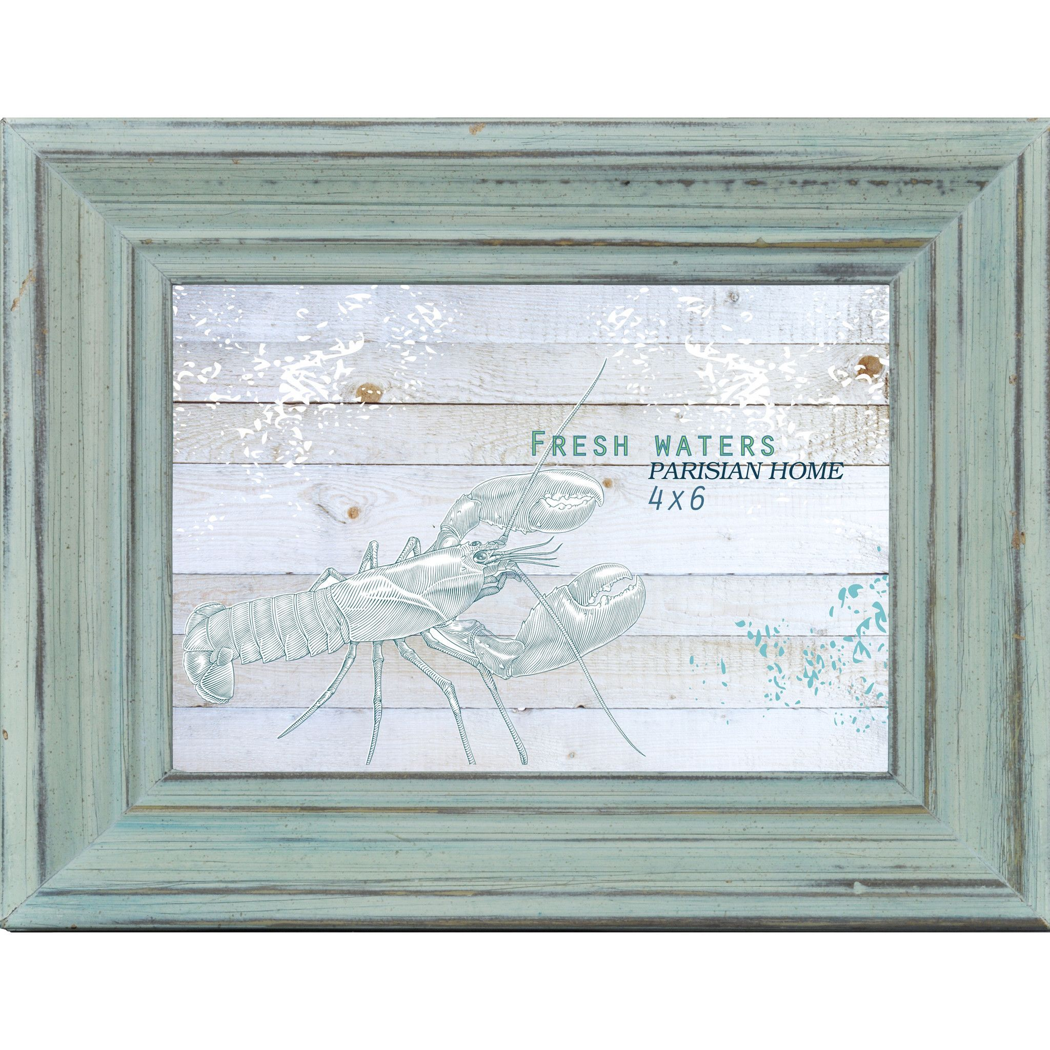 Home Accents Beveled Distressed Wood Picture Frame / Photo Frame ...