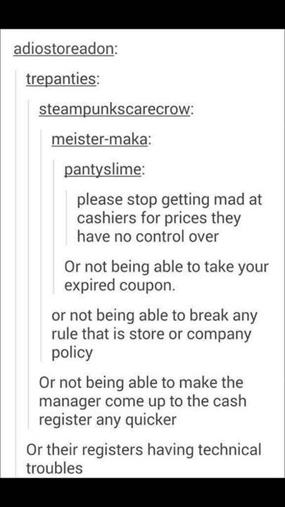 089480d54f4d8 WE CANNOT CONTROL THIS STUFF SO DONT GET ANGRY Cashier Problems, Retail  Problems, Retail