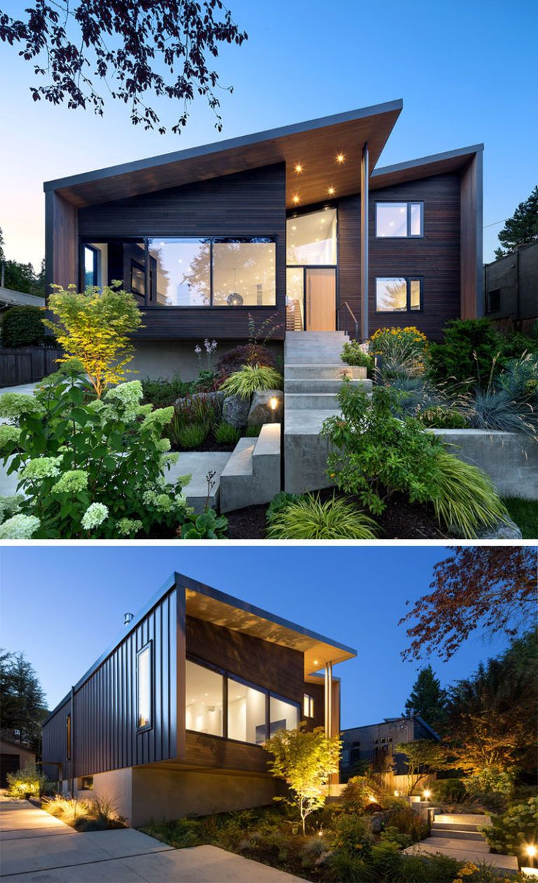 Before And After A Vancouver Home Gets A Modern Upgrade By Splyce Design Industrial House Exterior Modern Residential Architecture Facade House