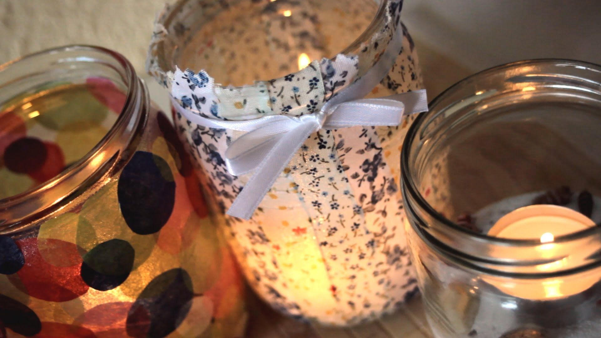 Diy 5 Ways How To Decorate Jars Into Candles Home Decor