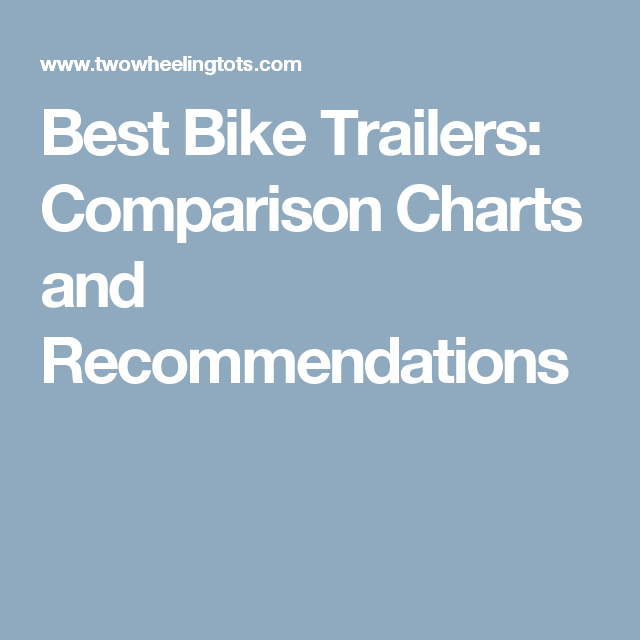 Bike Trailers Comparison Charts And Recommendations With Images