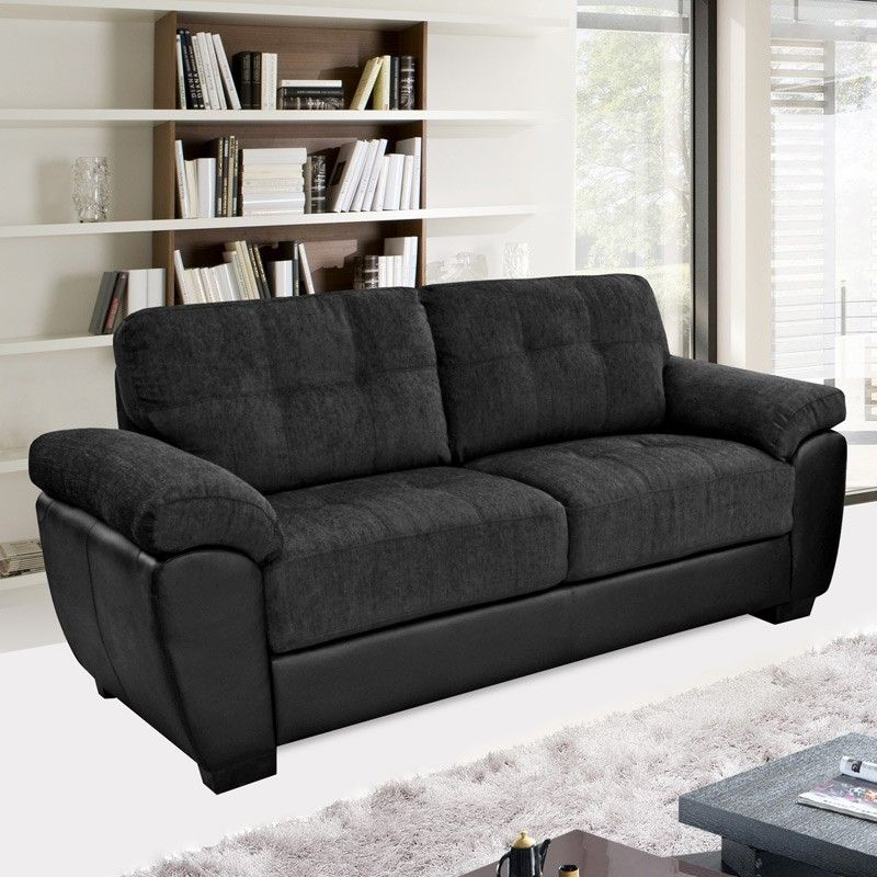 Add style and beauty to your living area with a black fabric ...