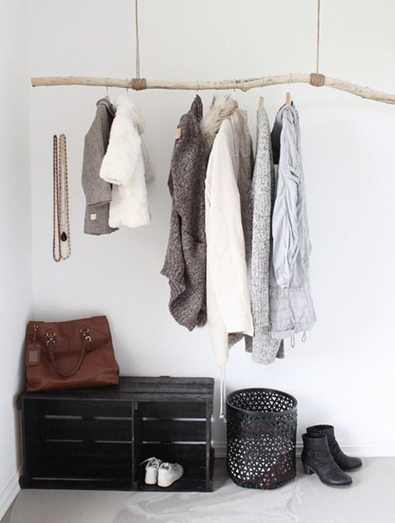 Coat Hanging Solutions 10 brilliant non-closet clothing storage solutions you can make