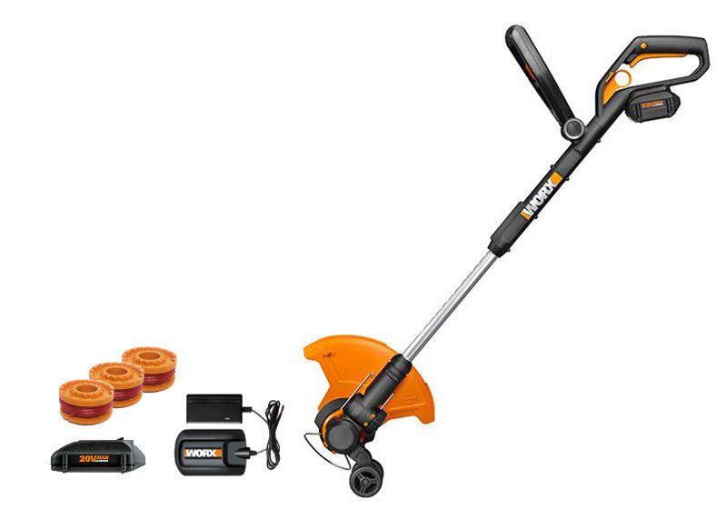 Wg175 1 Worx 32v Max Lithium 12 Grass Trimmer Edger Mini Mower 2 Batteries Mower Trimmers Lawn Equipment