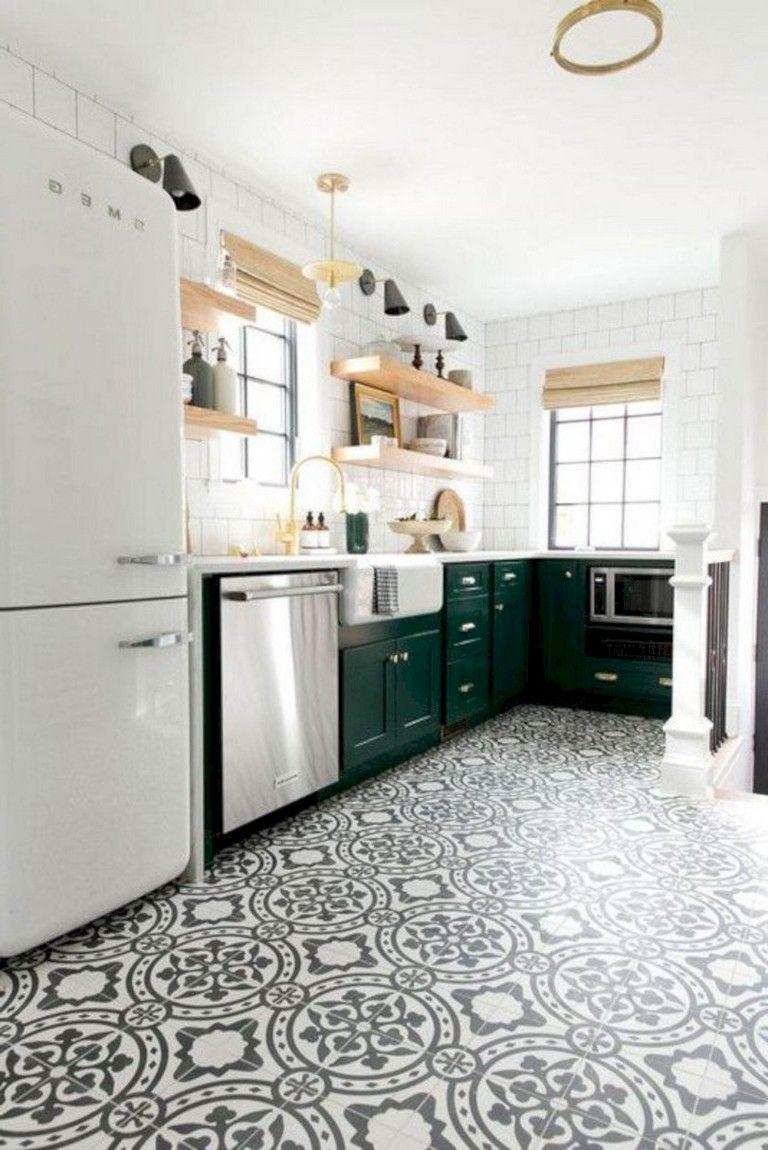 39+ Beautiful Kitchen Floor Tiles Design Ideas in 2020