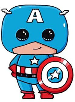 Coloriage Facile Captain America.Captain America Emilien Pinterest Dessin Kawaii 365