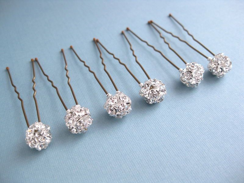 Bridal Rhinestone Hair Pins Bobby Pins | Accessories | Pinterest