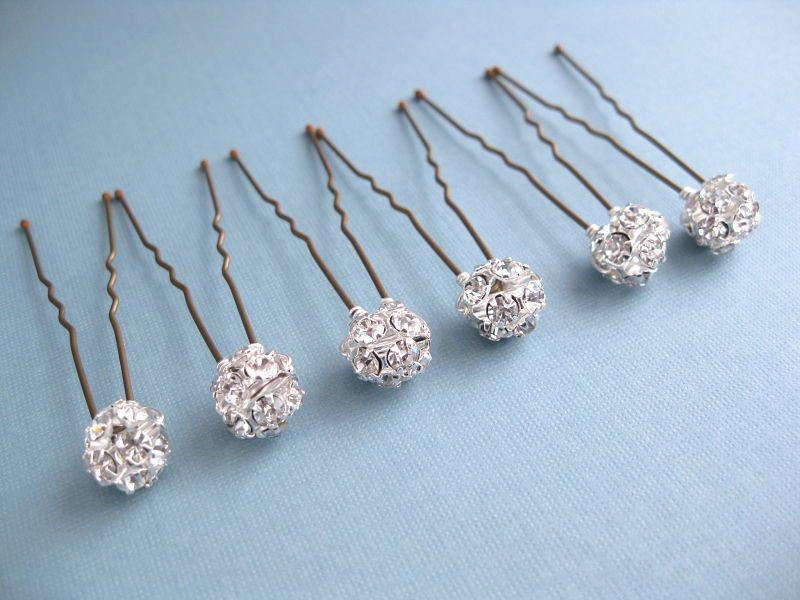 Bridal Rhinestone Hair Pins Bobby Pins  2a68b3cc9515