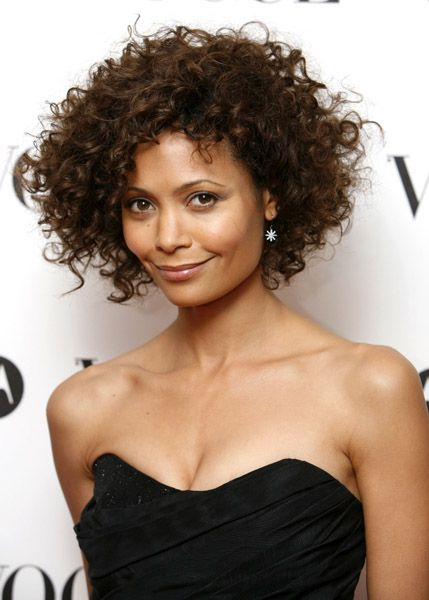 Natural Curly Hairstyles Thandie Vogue 90Th Do 8Th November  Natural Curly Hair  Pinterest