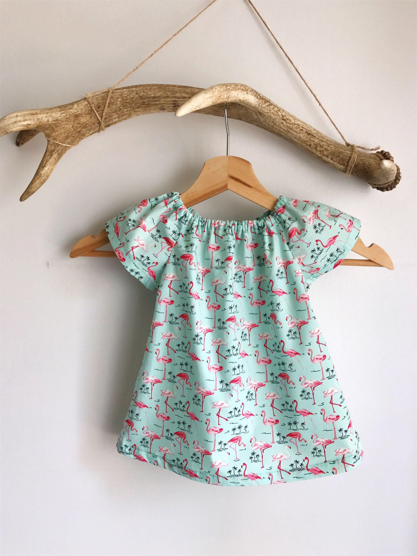 Baby girl summer dress girls cotton dress flamingo baby dress
